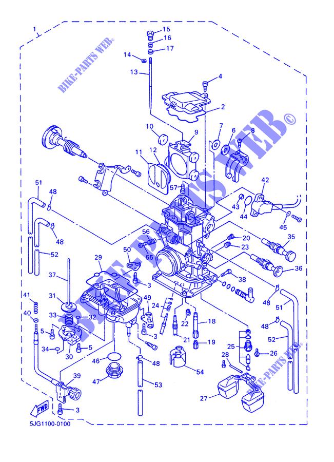 Admisi/ón del carburador compatible para YAM XV 250 Virago 2UJ 13586 00 93210 30611