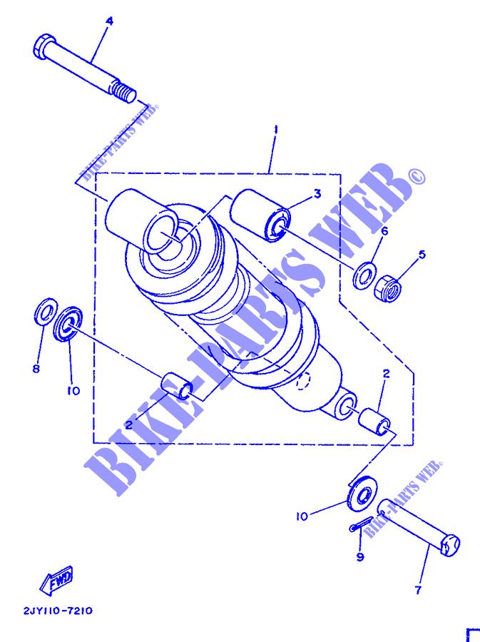 Amortiguador Post /TW 125/A/ño 99/-01// Yamaha/