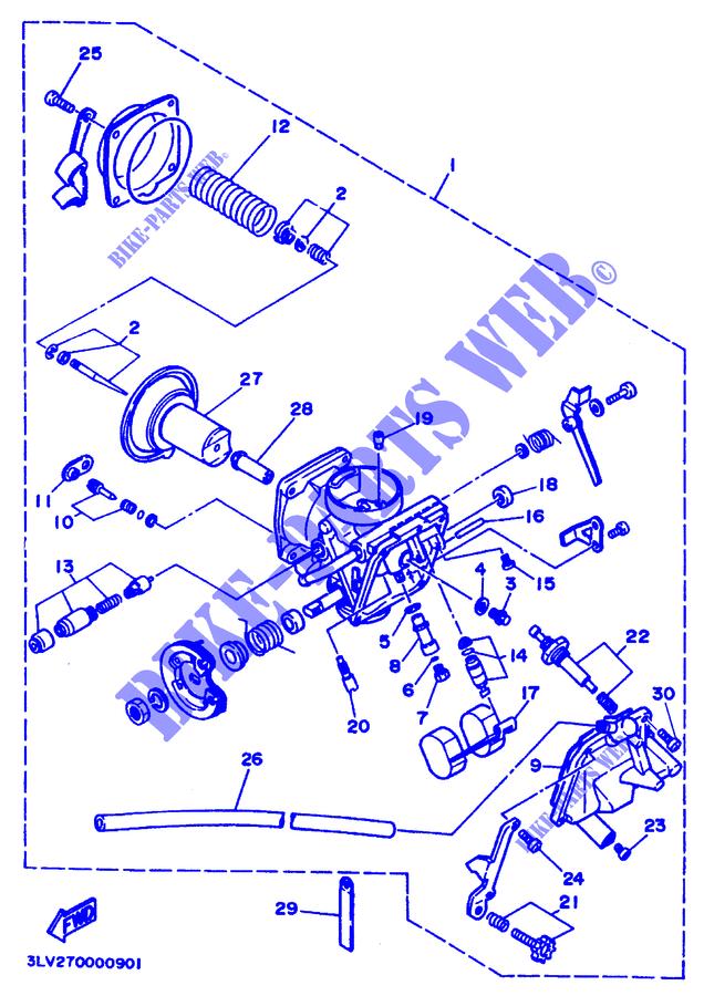 Diafragma de /émbolo de carburador para Yamaha Virago XV250 XV 250V-twin V doble ZHONGHH